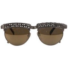 Jean Paul Gaultier Rare Vintage Sunglasses mod Tour Eiffel 56-0171 Bronze 210G