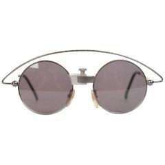 5bca05926c Casanova Vintage Rare Round Sunglasses Mod MTC 3 Gold Plated 24K 48-20