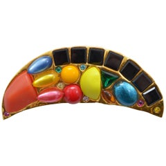 Chanel Rare 1989 Massive Runway Half Moon Brooch