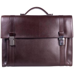 Brunello Cucinelli Men's Classic Brown Leather Briefcase