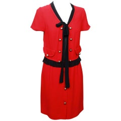 Moschino Cheap and Chic Red and Black Dress