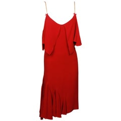 Viktor & Rolf Red Jersey Cocktail Dress