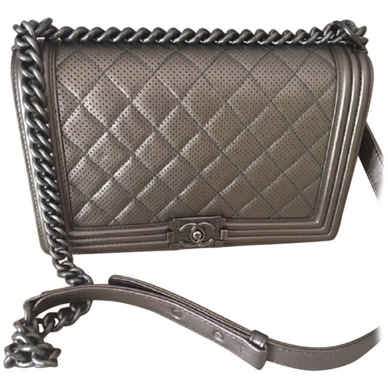 Chanel New Medium Metallic Bronze Boy Bag