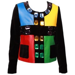 Jean De Castelbajac Mondrian Color blocked Jacket with Jewels  -Original Tags