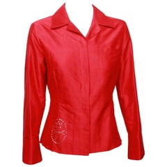 Castelbajac Red Silk Shirt