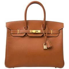 Hermès Birkin 35 Gold Epsom GHW Bag