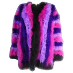 French Ostrich Feather Coat, Circa 1980