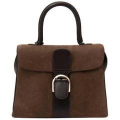 Delvaux Brown Bicolor Brillant MM and Strap