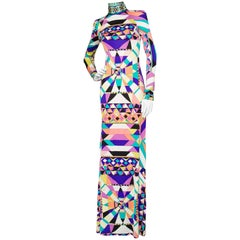 A Vintage Emilio Pucci Silk Jersey Maxi Dress