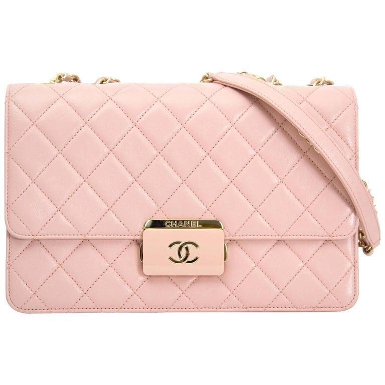 Chanel Pink Sheepskin Flap Bag