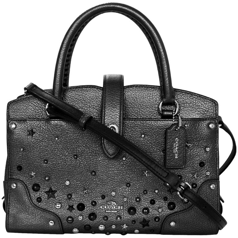 Coach Pewter Star Rivets Mercer 24 Satchel Bag With DB For