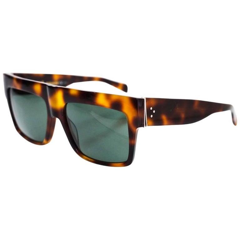 41a80a48a6 Celine Tortoise Polarized CL 41756 ZZ Top Sunglasses with Case For Sale