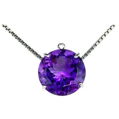 Magnificent 19.76 Carat Amethyst Sterling Silver Pendant