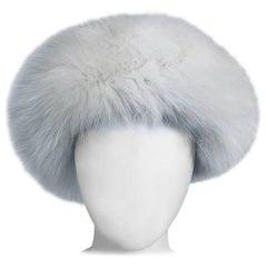 White fox hat 1960s