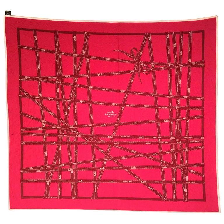 Hermes Silk Jersey Shawl / Scarf