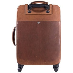 Brunello Cucinelli Men's Brown Leather Trolley Bag