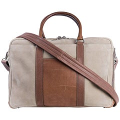 Brunello Cucinelli Beige Natural Brushed Leather Carryall Bag