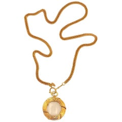 Chanel 1986 Magnifying Lense Pendant Necklace