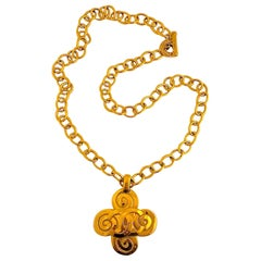 Chanel Large Pendant Necklace Spring 1995 Collection