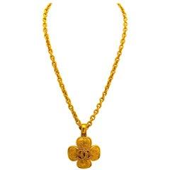 Chanel Autumn 1996 Double CC Pendant Necklace