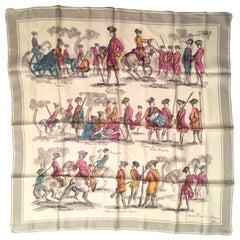 Balmain Silk Scarf w/ Original Box - Rare - Vintage