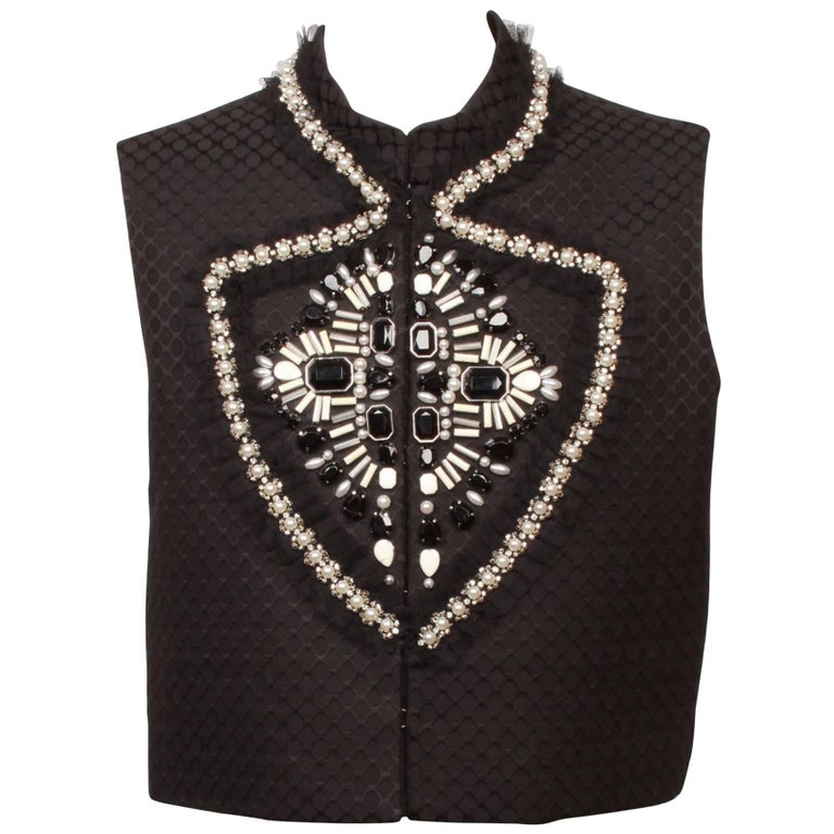 Givenchy Jewelled Black Vest