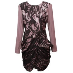 Givenchy Printed Draped Mini Dress