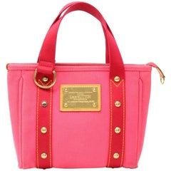 Louis Vuitton Cabas PM Red Antigua Canvas Hand Bag -  2006 Limited