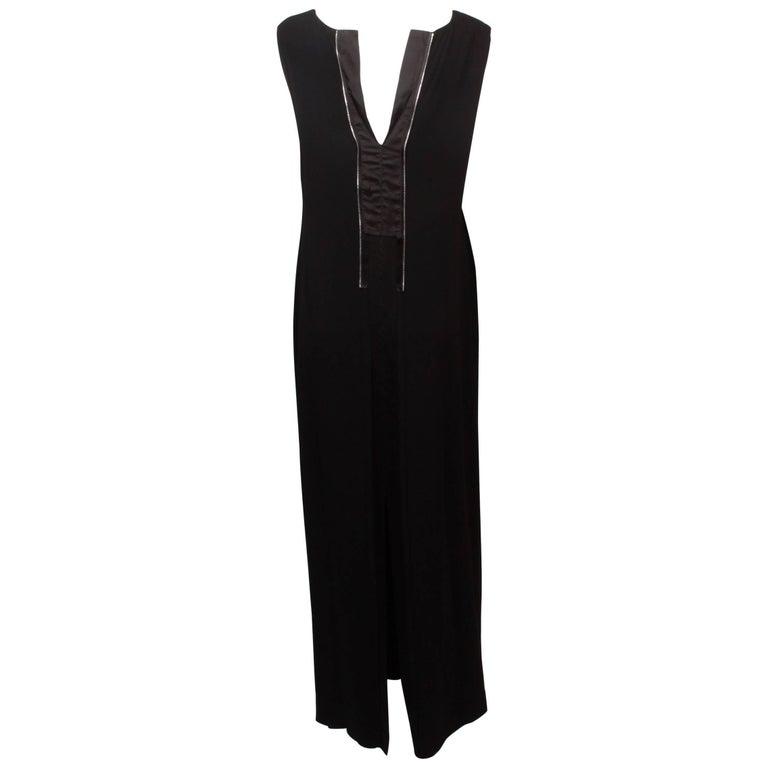 Maison Martin Margiela Black Maxi Dress  46