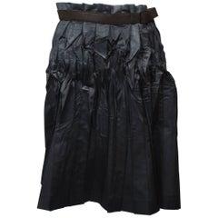 Issey Miyake Crumpled Pleated Wrap Skirt  M