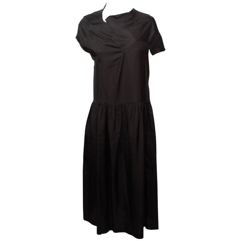 Comme des Garcons Geometric Panel Black Dress S