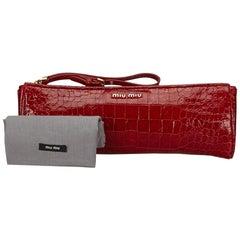 Miu Miu Red Patent Leather Clutch