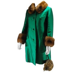 Christian Dior Vintage Coat Piéce Unique Size 10 - 12 US, Circa 1950s - 1960s