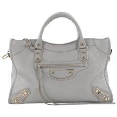 Balenciaga City Classic Metallic Edge Handbag Leather Medium