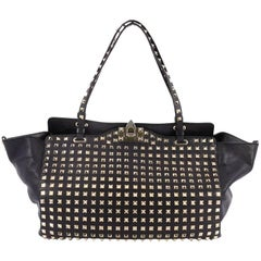 Valentino Rockstud Tote Full Studded Leather Medium