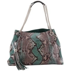 Gucci Soho Chain Strap Shoulder Bag Python Medium