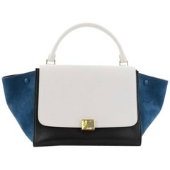 Celine Tricolor Trapeze Handbag Leather Medium