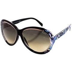 Emilio Pucci Black, Blue & Purple Sunglasses