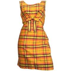 Moschino Silk Plaid Sleeveless Dress Size 10.