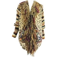 Maya design studio art to wear collage mini coat 1980s