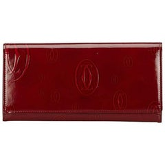 Cartier Red Happy Birthday Patent Leather Wallet