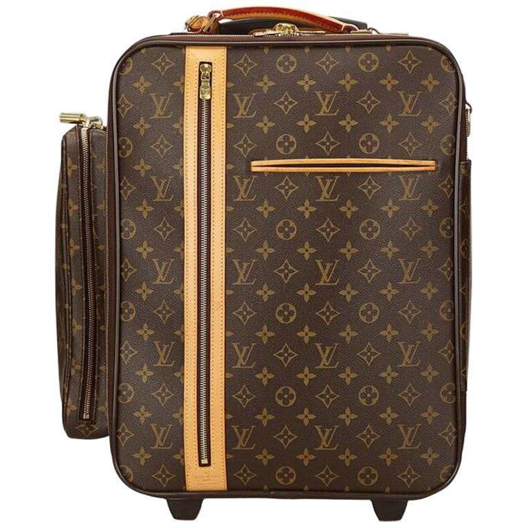 Louis Vuitton Brown Bosphore 50 Trolley Suitcase For Sale