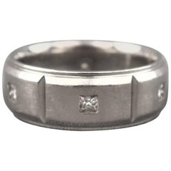 SCOTT KAY 10 Silver Palladium Diamond Wedding Band Ring