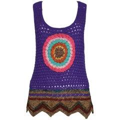 Iconic YSL 1970 Crochet Hippie Top As Seen On Yves Saint Laurent Himself