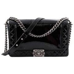 Chanel Reverso Patent New Medium Boy Flap Bag