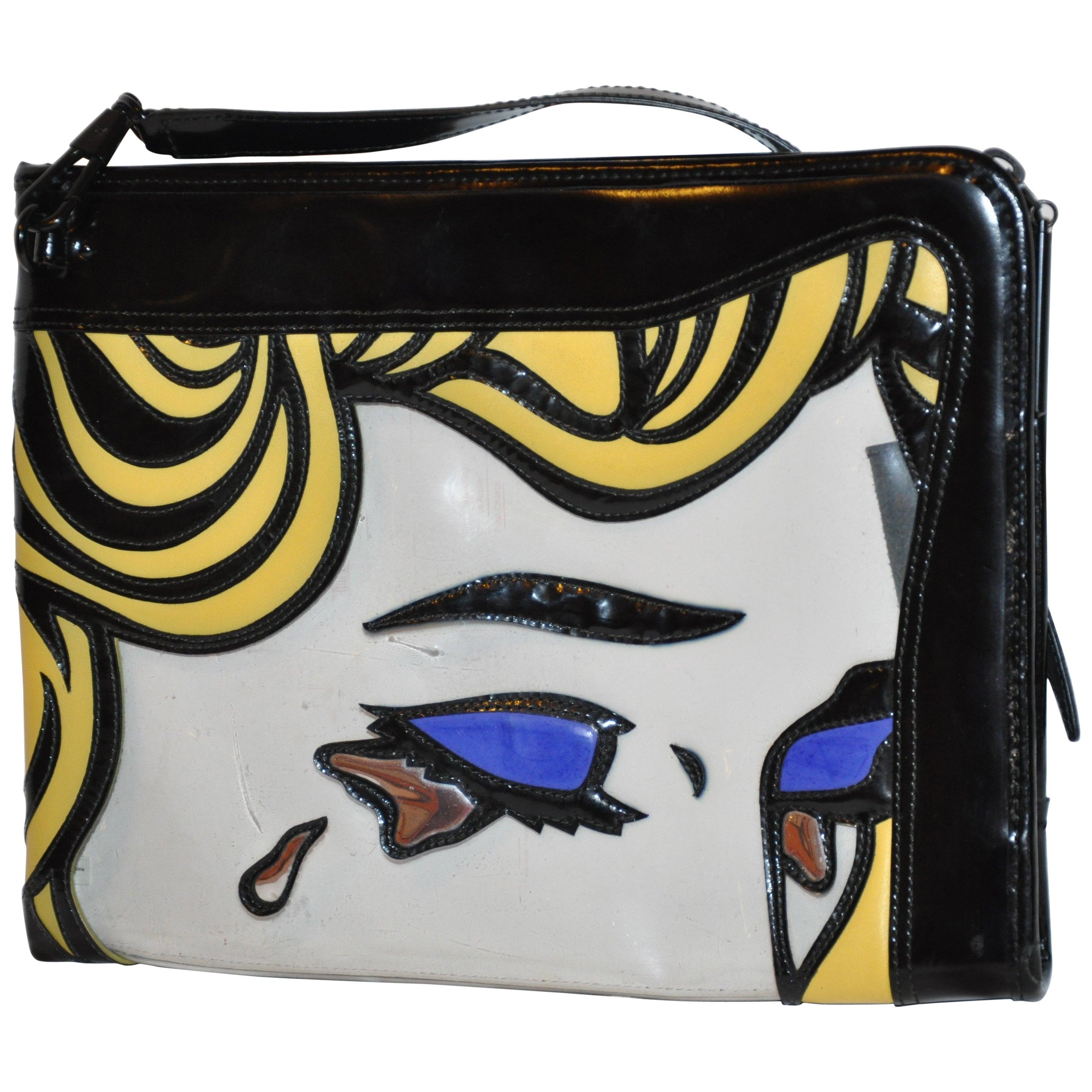 Phillip Lim Limited Edition Golden Tears Portrait Clutch and Shoulder Bag