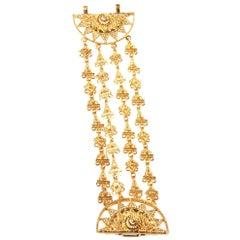 Oscar De La Renta Gold-tone Multi-Strand Bracelet