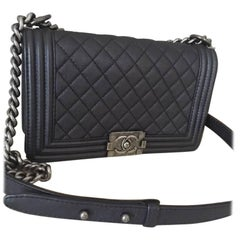 Chanel Medium Boy Bag in Goatskin Leather