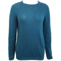 Vintage 90s Prada Teal Cashmere Sweater
