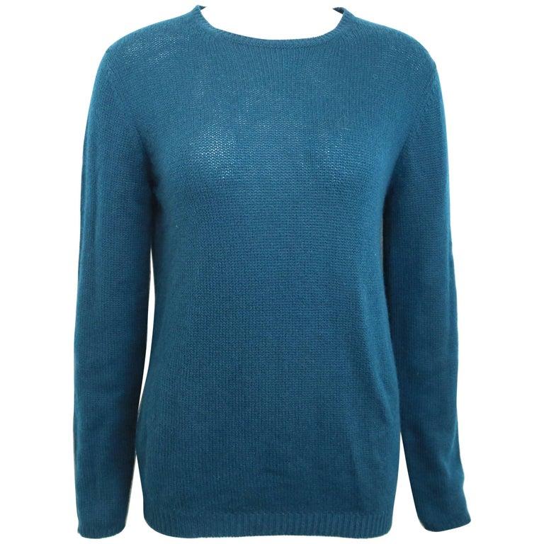 Prada Teal Cashmere Sweater